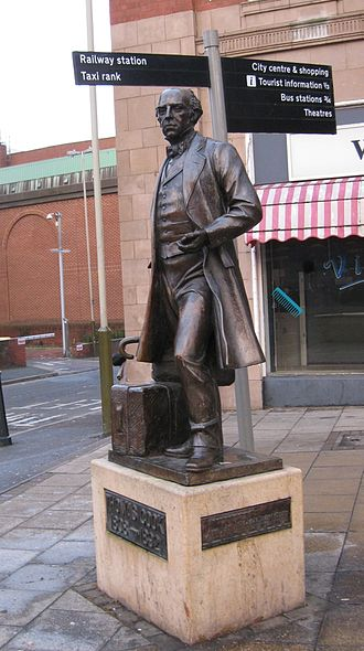 Thomas Cook - Statue near Leicester railway station