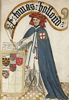 Thomas Holland, 1st Earl of Kent English nobleman and military commander of the Hundred Years War