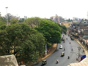 Sakthan Thampuran - A bird's view of Swaraj Round which was built by Sakthan Thampuran