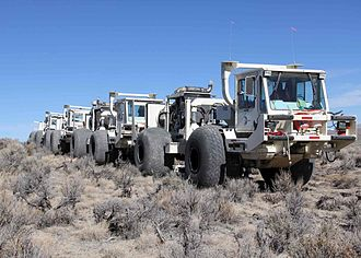 Seismic source - Thumper trucks, Noble Energy, northern Nevada 2012.