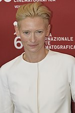 Photo of Tilda Swinton attending the 2009 Venice Film Festival