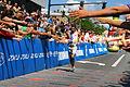 Tim O'Donnell finishing Ironman Coeur d'Alene 2012.jpg