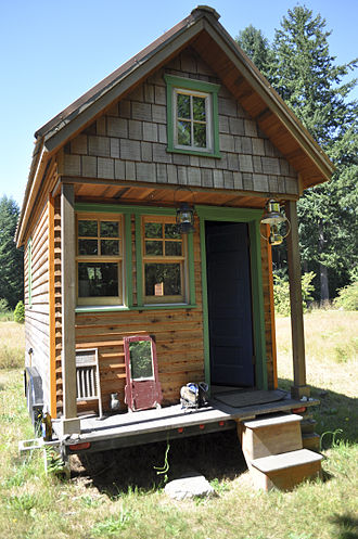 Tiny house movement - A tiny mobile house in Olympia, Washington, United States