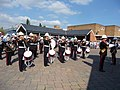 Tiverton , Royal Marine Band at Tiverton Market - geograph.org.uk - 1272115.jpg