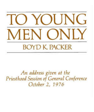 To Young Men Only