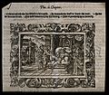 Tobit exhibits his blindness. Woodcut. Wellcome V0034451.jpg