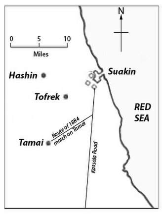 Battle of Tofrek - Image: Tofrek Map