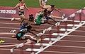 Tokyo 2020 women 100m hurdles semi-final 1 Devynne Charlton, Christina Clemons, Tobi Amuson and Andrea Carolina Vargas.jpg
