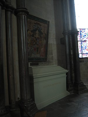 Reginald Pole - His tomb at Canterbury Cathedral.