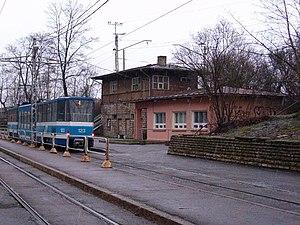 Kitseküla - Image: Tondi trammi ja elektrirongipeatus