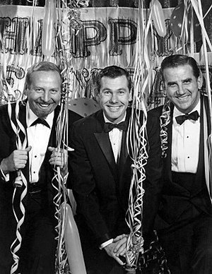 The Tonight Show Starring Johnny Carson - Carson's first Tonight Show on New Year's Eve, 1962; shown with Skitch Henderson and Ed McMahon