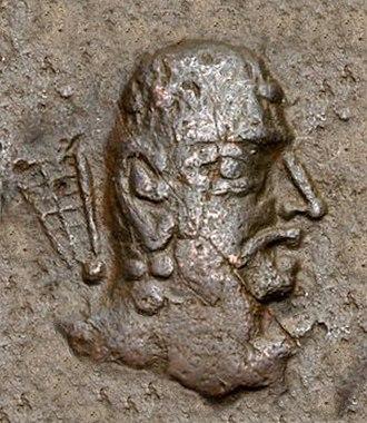 Rīsthal inscription - Portrait of Toramana. According to the Rīsthal inscription, Alchon Huns ruler Toramana was vanquished by Prakashadharma of Malwa in 515 CE.