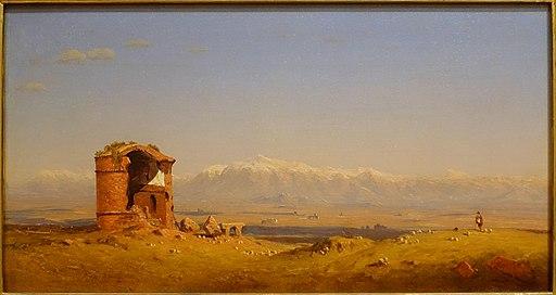 Torre dei Schiavi, Roman Campagna, by Sanford Robinson Gifford, 1857-1862, oil on canvas - Currier Museum of Art - Manchester, NH - DSC07481