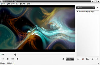 GNOME Videos -  A screenshot of the player's old interface, used up to version 3.10.
