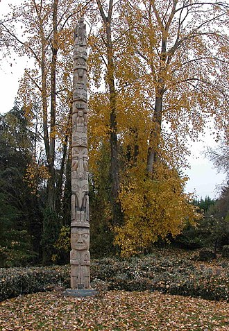 East Montlake Park - Totem pole carved by John Dewey Wallace