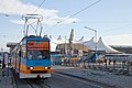 Tram in Sofia in front of Central Railway Station 2012 PD 090.jpg
