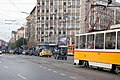 Tram in Sofia near Macedonia place 2012 PD 058.jpg