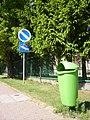 Trash bins in Mońki 2.JPG