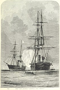 USS <i>San Jacinto</i> (1850) Screw frigate in the US Navy famous for her role in the Trent Affair of 1861