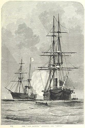 USS San Jacinto (1850) - Image: Trent and San Jacinto