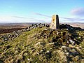 Trig pillar at Ridlees Cairn - geograph.org.uk - 1088665.jpg