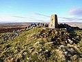 Trig pillar at Ridlees Cairn - geograph.org.uk - 1088665.jpg