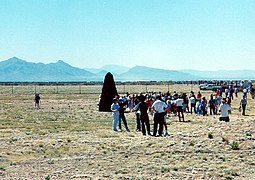 Trinity Site - Tourists at ground zero.jpg