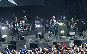 Trivium performing at Wacken Open Air in 2017