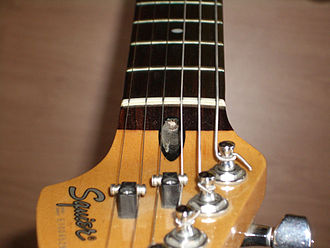 Truss rod - Truss rod adjustment bolt visible from the side of headstock
