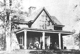 John Wilkes Booth - Tudor Hall in 1865