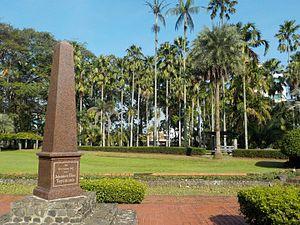 Johannes Elias Teijsmann - A monument to honor Johannes Elias Teysmann at Bogor Botanical Garden Indonesia