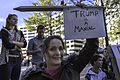 Tump is a maniac, Protesters outside Trump Hotel on Pennsylvania Ave, DC (30816243601).jpg