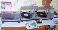 Turntables at a radio station, 2003