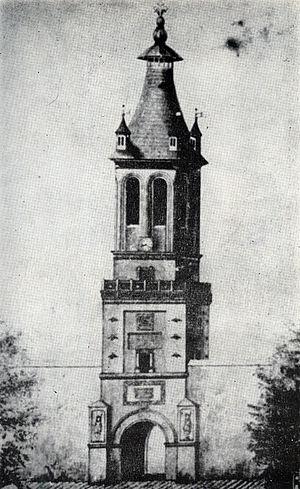 1802 Vrancea earthquake - Image: Turnul Colţea