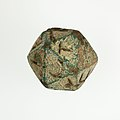 Twenty-sided die (icosahedron) with faces inscribed with Greek letters MET 10.130.1159 001.jpg