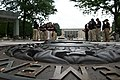 Two groups of law enforcement explorers at the National Law Enforcement Officers Memorial.jpg