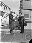 Two men shaking hands on board the SS Mariposa in Sydney Harbour (4009414483).jpg