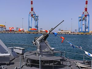 Typhoon Weapon Station - Typhoon armed with 25 mm gun on Shaldag class fast patrol boat of the Israeli Navy.