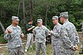 U.S. Army Lt. Col. Michael Ladd, left, the commander of the 44th Civil Support Team, Florida National Guard, briefs Air Force Lt. Gen. Joseph Lengyel, second from right, the vice chief of the National Guard 130519-Z-UC781-883.jpg