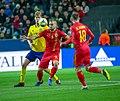 UEFA EURO qualifiers Sweden vs Romaina 20190323 George Puscas and Filip Helander.jpg