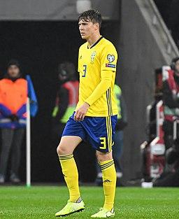 UEFA EURO qualifiers Sweden vs Spain 20191015 Victor Nilsson Lindelöf 2