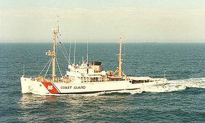 USS Escape (ARS-6) - Escape in Coast Guard colours.