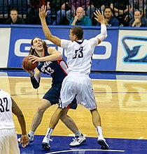 USD Toreros vs Gonzaga Bulldogs 02-02-13 Kelly Olynyk.jpg