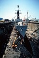 USS Claude V. Ricketts (DDG-5) drydocked.jpg