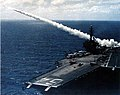 USS Constellation (CVA-64) fires Terrier missile 1963.jpg