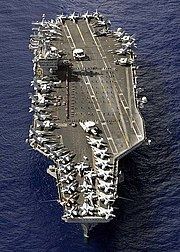 USS Nimitz (CVN-68) returns from deployment in the Persian Gulf.