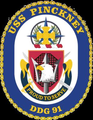 USS Pinckney - Image: USS Pinckney DDG 91 Crest