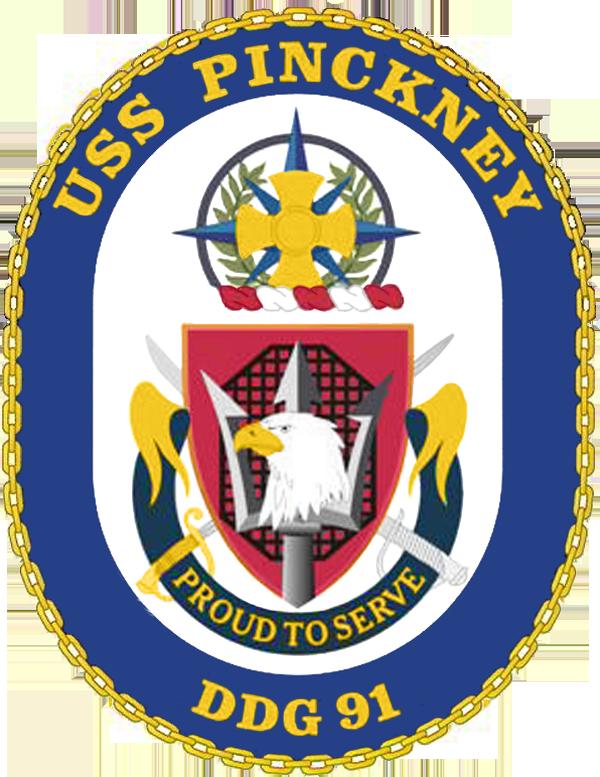 USS Pinckney DDG-91 Crest