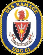 USS Ramage (DDG-61) crest