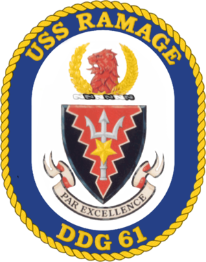 USS Ramage - Image: USS Ramage (DDG 61) crest